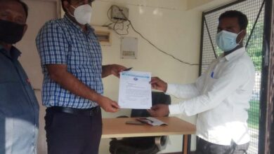 BSP leader submitted memorandum to SDM for construction of dilapidated road